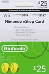 Nintendo Wii U/3DS Prepaid Card £25 UK