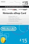 Nintendo Wii U/3DS Prepaid Card £15 UK