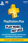 Sony Playstation Plus 3 Month Subscription UK