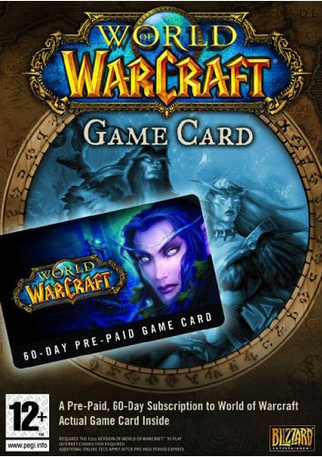 World of Warcraft 60 Days Prepaid Game Card EU&UK