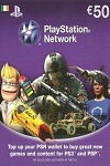 Playstation Network Live Card EUR50 Ireland